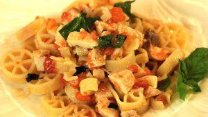 Pasta with swordfish and cherry tomatoes