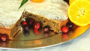 Cranberry apple and orange cake