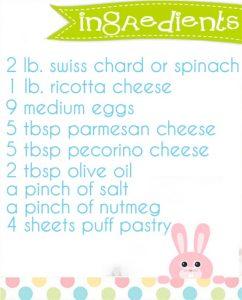 easter pie ingredienti