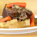 Braised beef with apples and roots + baby beef puree