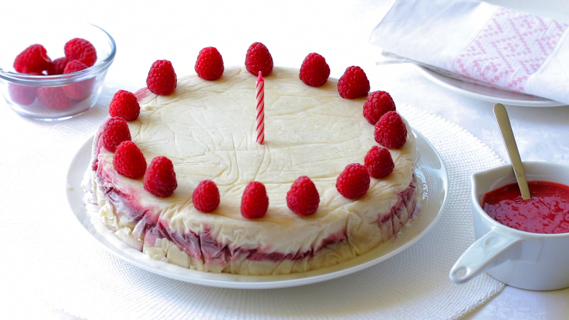 First birthday cake recipe yogurt and raspberry ice cream cake