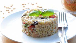 Pearl barley tuna salad