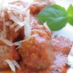 Italian meatballs with ricotta