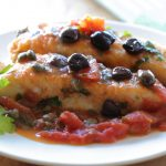 Mediterranean halibut fish fillet