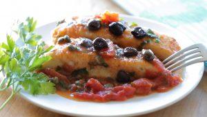 Mediterranean halibut fish fillet