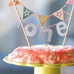 1st Birthday cake: carrot with tofu/vanilla frosting