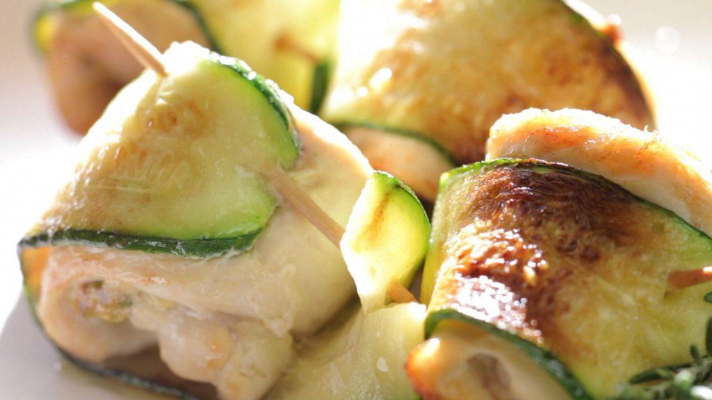 Кабачки в духовке с куриным филе рецепт с пошагово