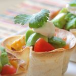 Mini taco cups for kids