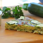 Easy zucchini frittata with fresh mint