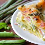 Asparagus and sweet peas lasagne