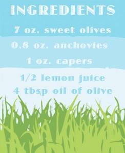 olive tap ingred