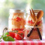 Couscous salad in a jar – picnic recipe