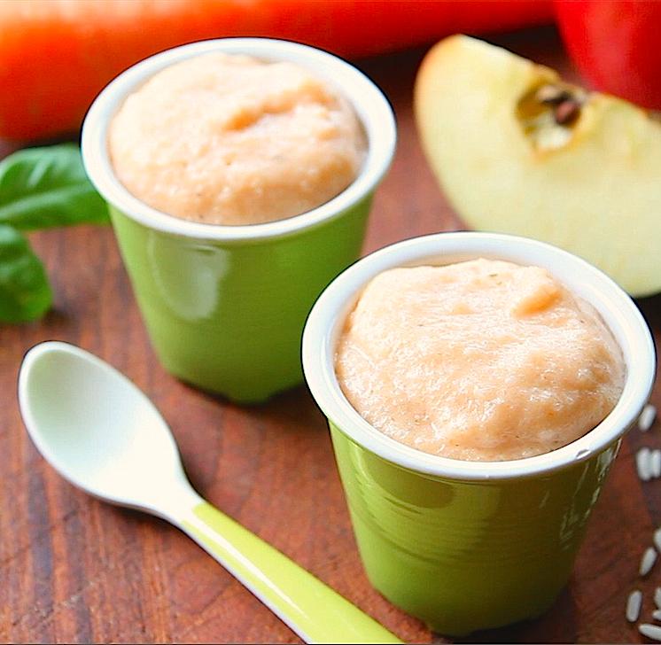 chicken rice apple baby food quad
