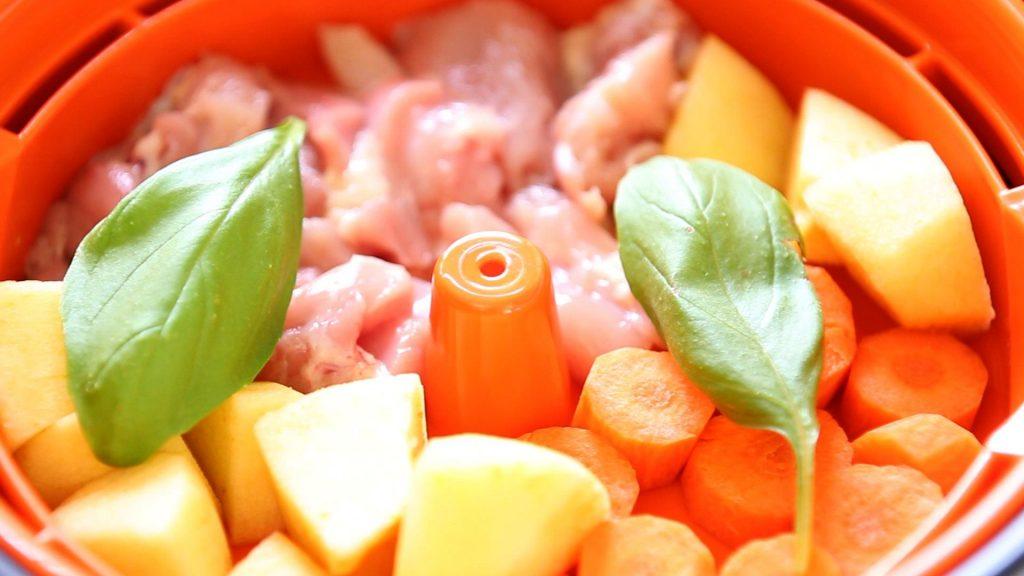 chicken rice apple puree8