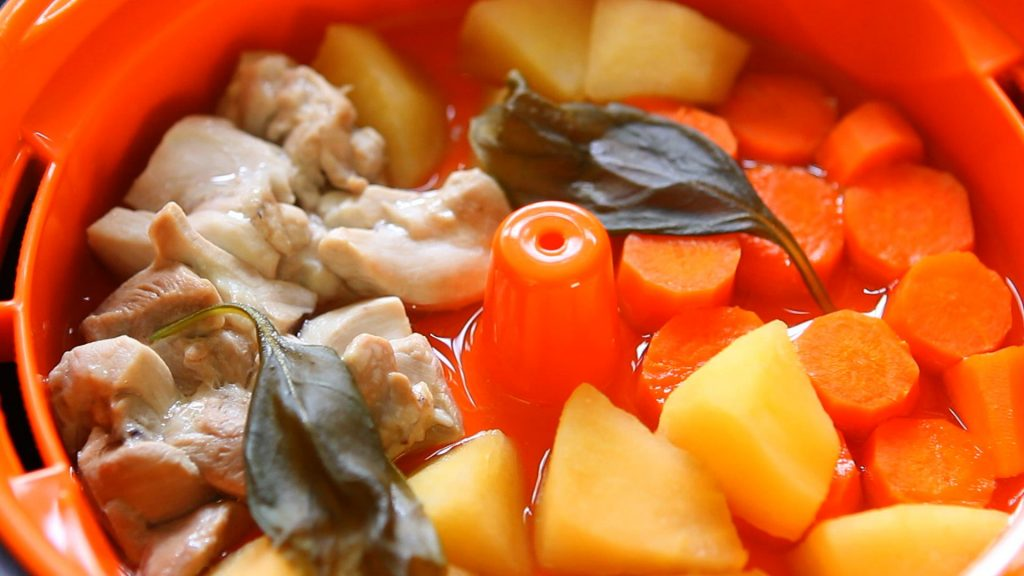 chicken rice apple puree9