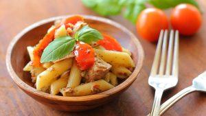 Pasta salad with tuna and fresh herbs