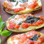 Vegetarian gluten free eggplant pizza recipe – kids friendly