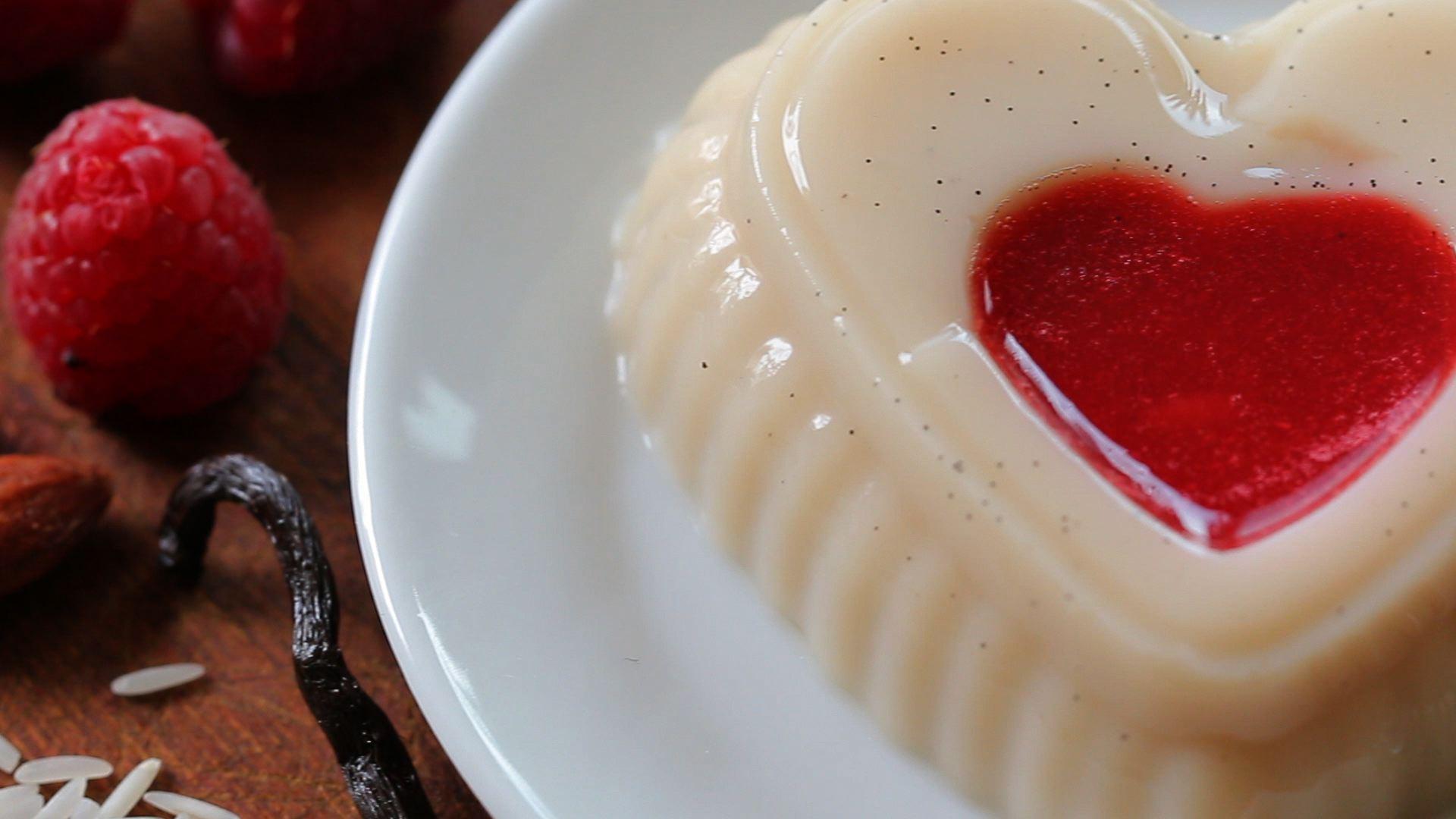 Dairy Free Vanilla Pudding With Raspberry Sauce Recipe