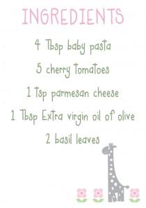 baby pasta ingred
