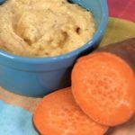 Pappa di patate dolci americane, crema di mais e tapioca e ricotta