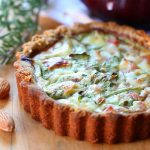 Gluten free ham and arugula quiche