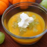 Pumpkin grapes and goat cheese baby puree – from 9 months