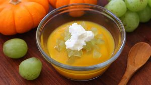 Pumpkin grapes and goat cheese baby puree - from 9 months