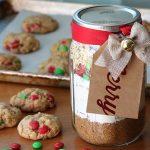 Chocolate cookies in a jar