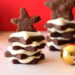 Chocolate cookies Christmas tree