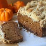 Gluten free Pumpkin bread with sugar crumble