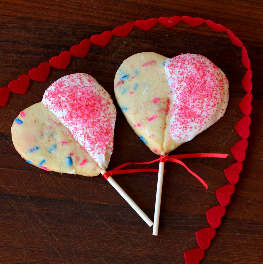 heart cookie pops recipe