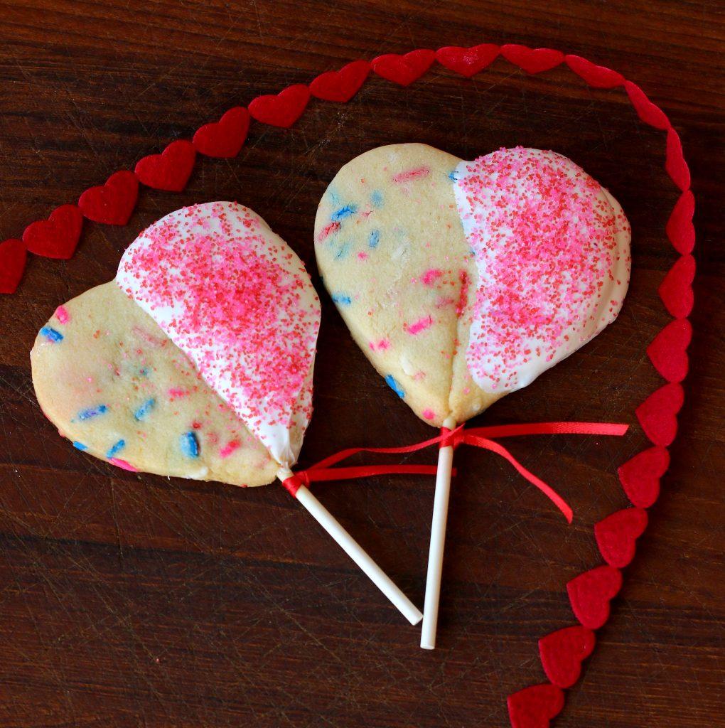 heart cookie pops recipe