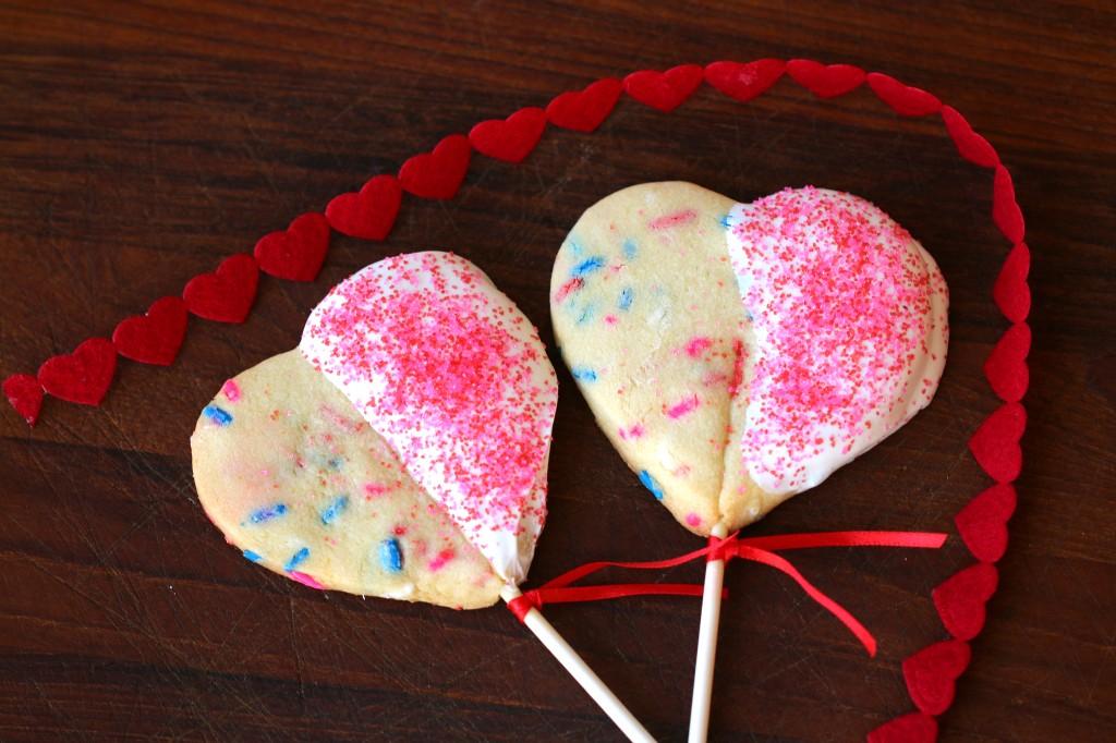 heart cookie pops