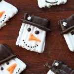 Pupazzi di neve da sgranocchiare – biscotti