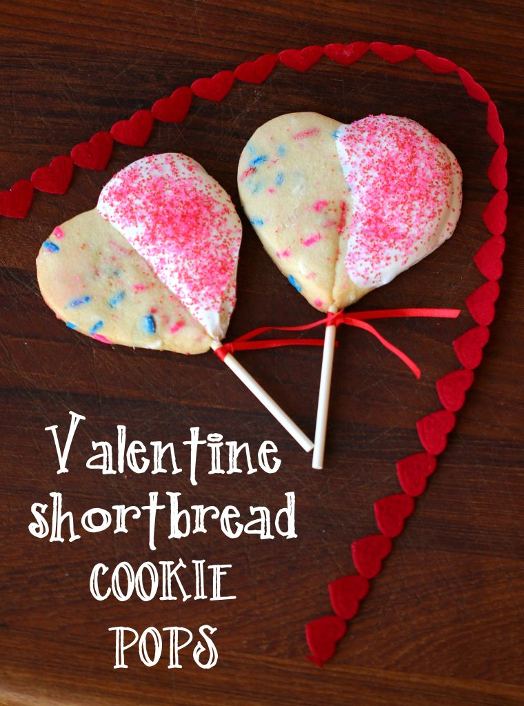 valentine shortbread cookie pops recipe