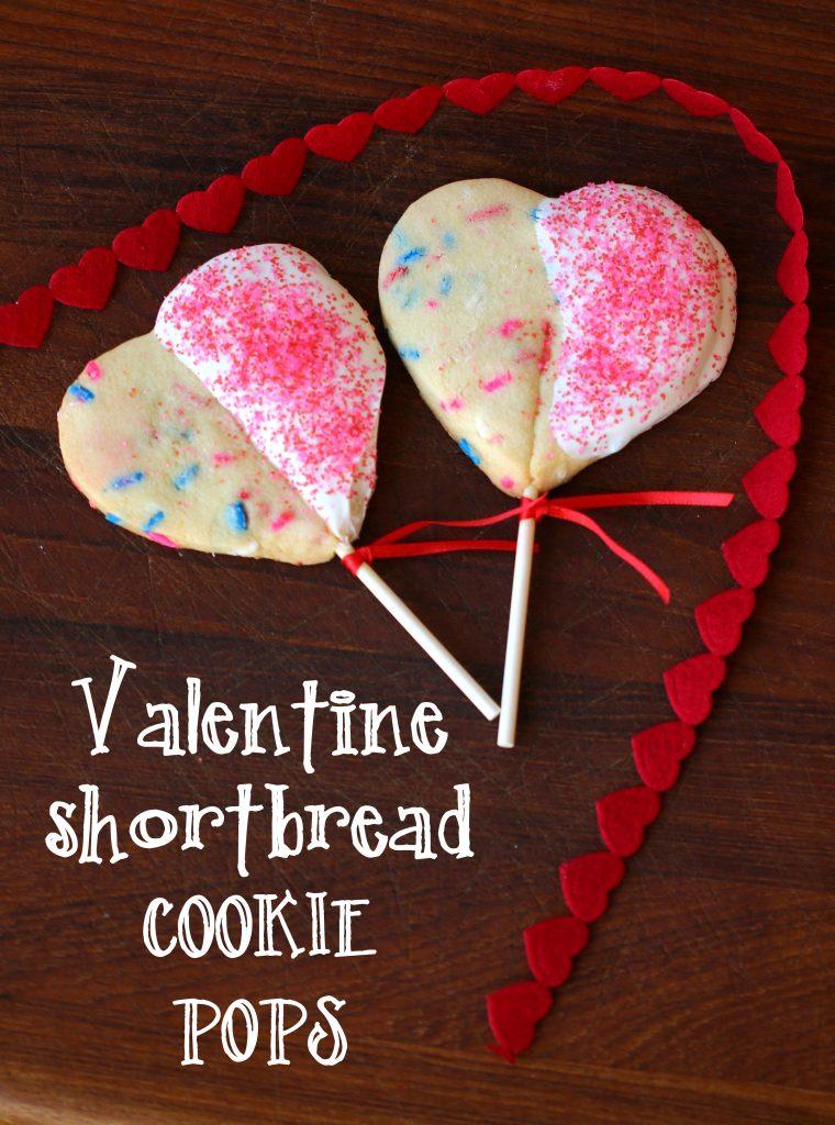 valentine shortbread cookie pops recipe