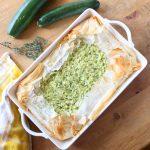Torta di zucchine e riso con pasta fillo