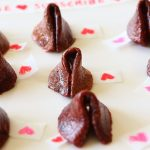 Valentine fruit leather fortune cookies