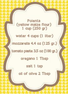 polenta pizza ingred