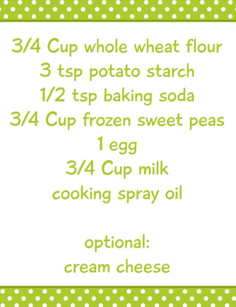 sweet peas pancakes ingred