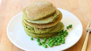 Sweet peas green pancakes