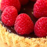 Chocolate Raspberry Tart – no bake