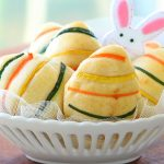 Easter brioche bread buns with ham & cheese