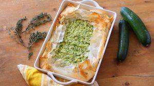 Zucchini and rice pie