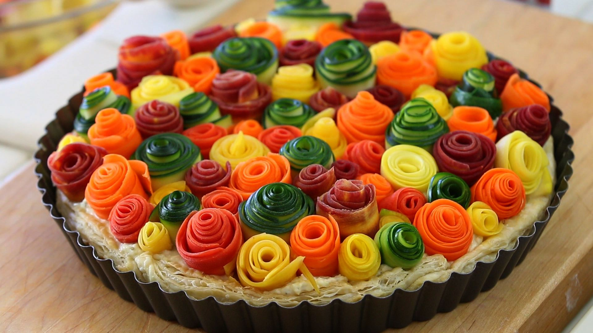 Rainbow Roll Cake Zucchini and carrots r...