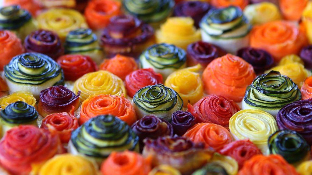 zucchini rose tart2