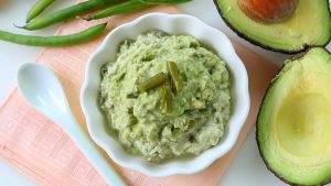 Green beans chicken and avocado baby puree