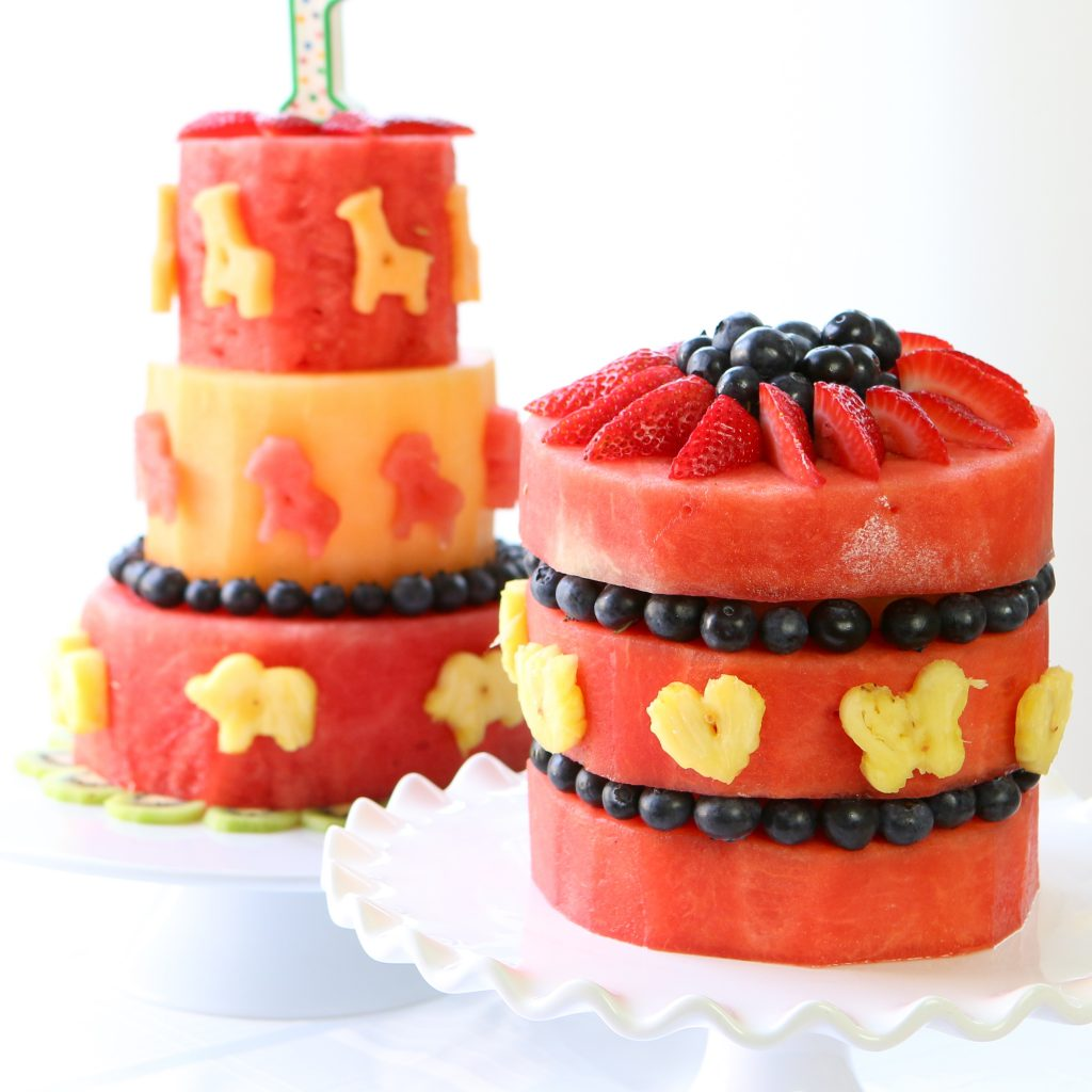watermelon cake square