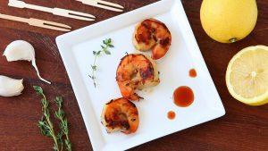 Lemon & Soy Sauce Grilled Shrimp