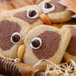 Cream and Cocoa Shortbread Owl Cookies